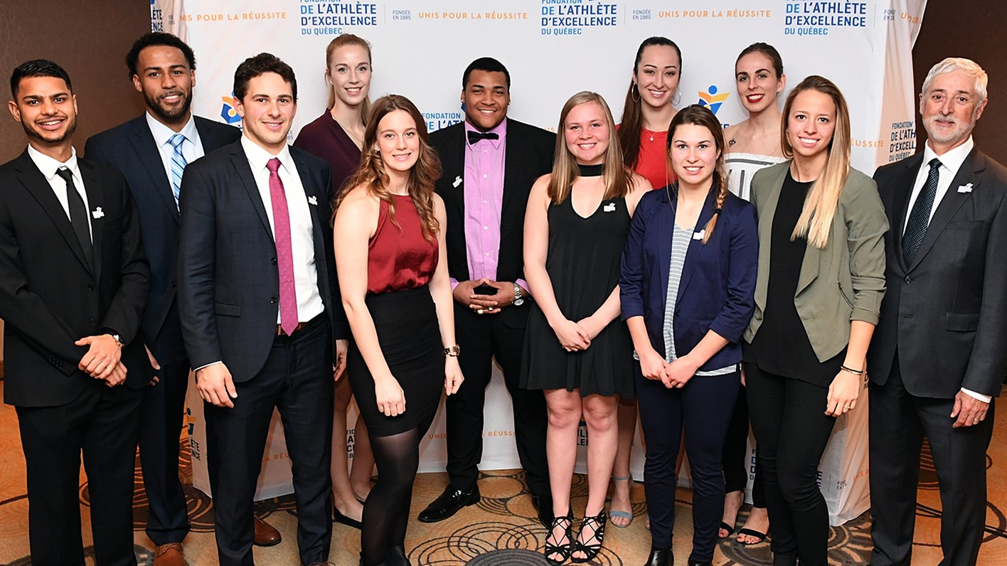 Four major winners among 13 McGill bursary recipients at Quebec sports gala